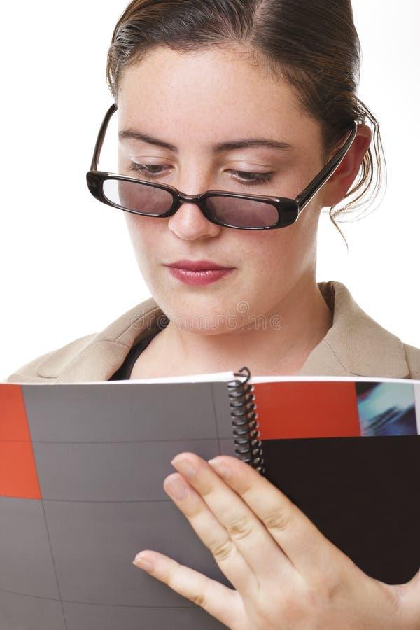 Businesswoman report stock photos