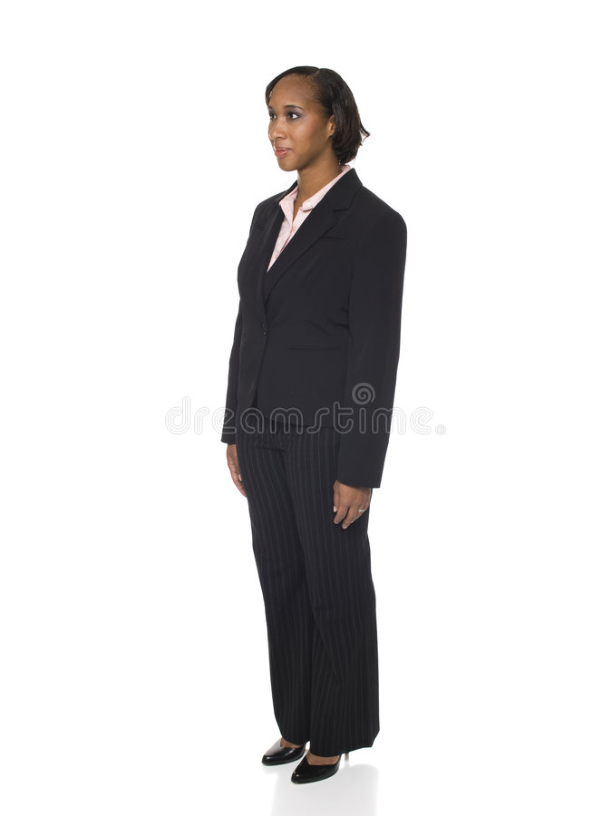 Woman In Business Suit Facing Left Royalty Free Stock Image