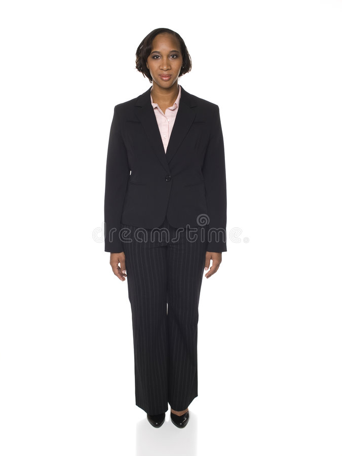 Woman in Business Suit Facing Front royalty free stock photos