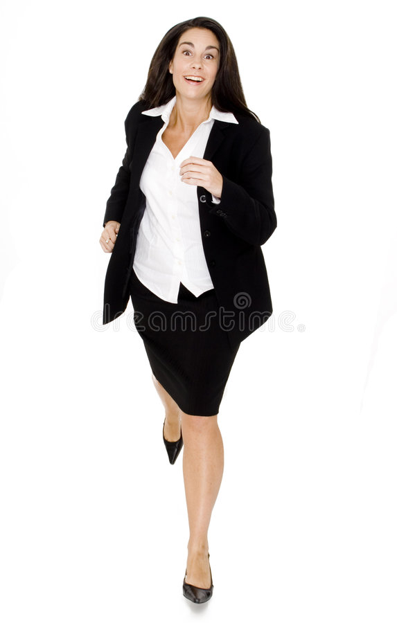 Businesswoman Running stock photography