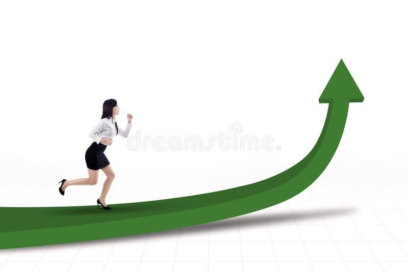 Download Businesswoman Running For Profit Stock Illustration - Image: 30322952