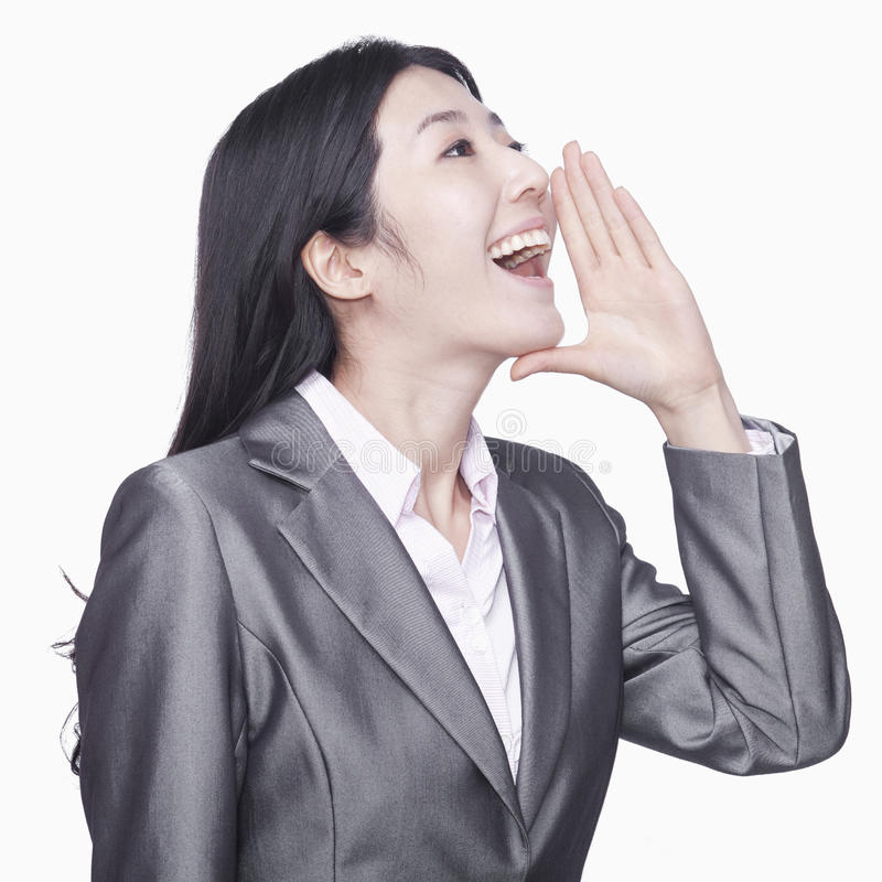 Download Businesswoman Screaming Stock Photo - Image: 31695280