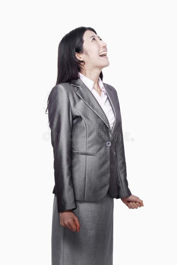 Download Businesswoman Screaming, Studio Shot Stock Image - Image: 31131875