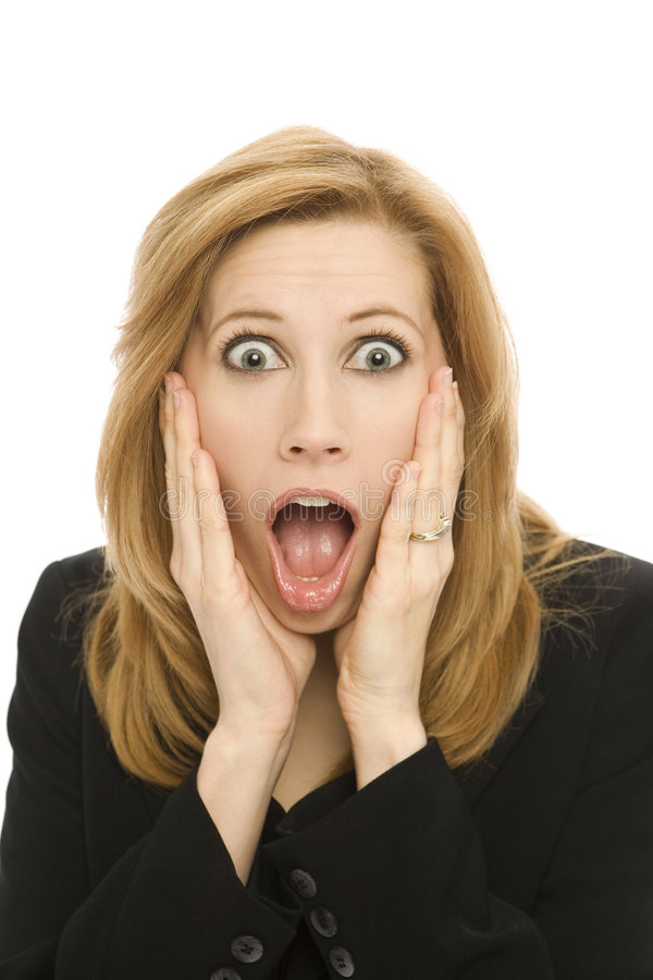 Businesswoman In Shock Royalty Free Stock Photography