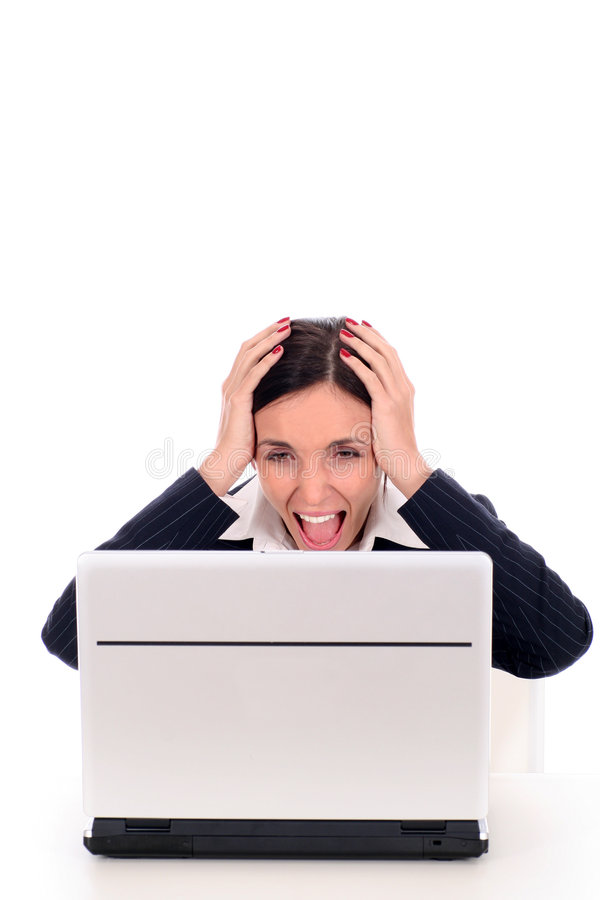 Download Businesswoman in shock stock image. Image of shock, screaming - 4287229