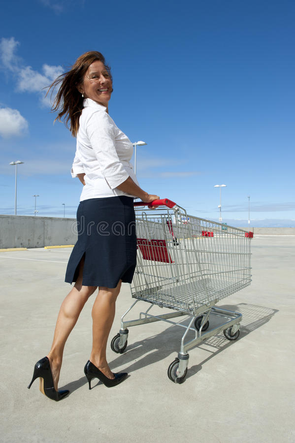 Download Businesswoman And Shopping Trolley Stock Photo - Image: 22513654