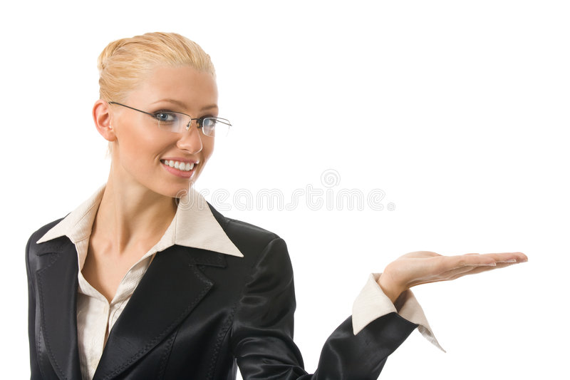 Download Businesswoman showing stock photo. Image of happiness - 6990500