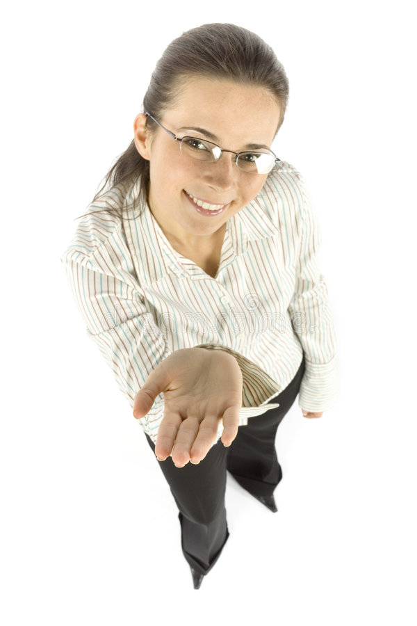 Download Businesswoman shows hand stock image. Image of adult, earn - 1172979