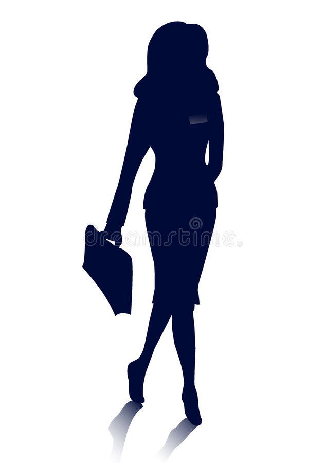 Businesswoman Silhouette Stock Image