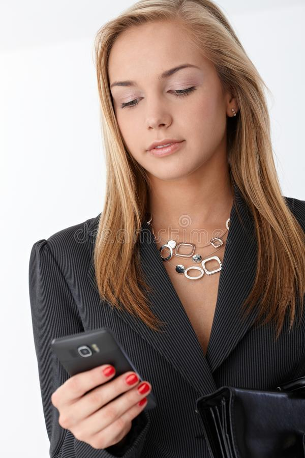 Download Businesswoman With Smart Phone Stock Image - Image: 22399029