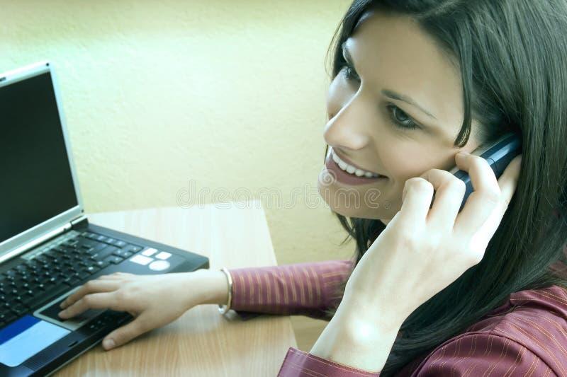 Businesswoman smiling stock photos