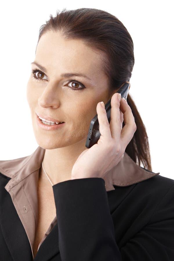 Businesswoman Speaking On Phone Stock Image