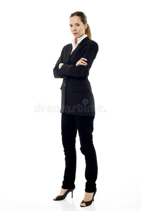 Download Businesswoman Standing With Arms Crossed Stock Photo - Image of indoor, adults: 16679460