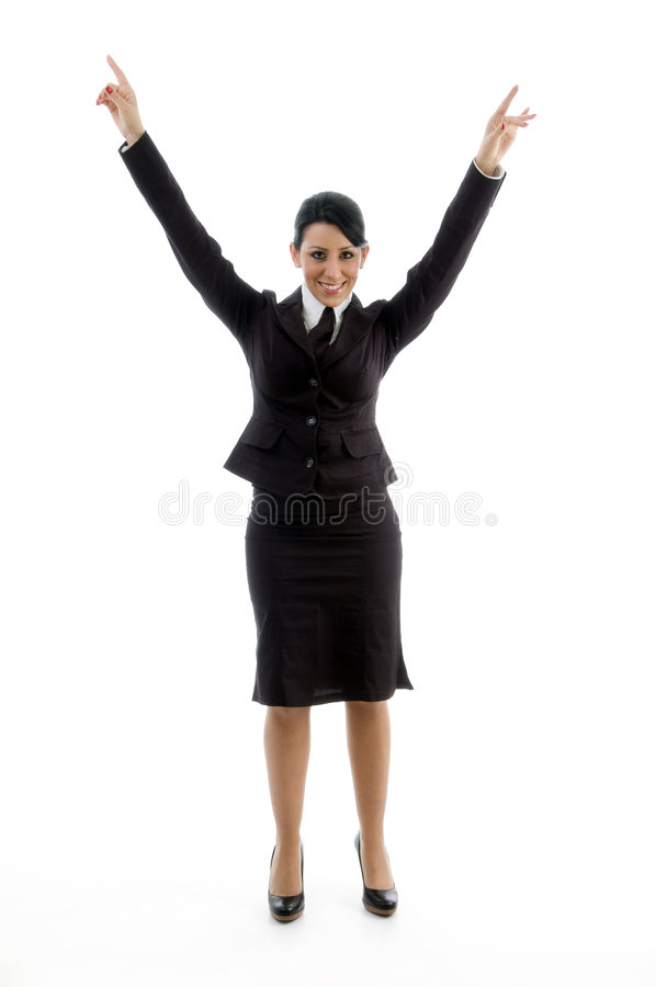 Download Businesswoman Stretching Her Arms Stock Images - Image: 7363354