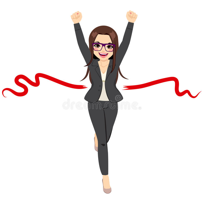 Businesswoman Success Winner Concept stock illustration