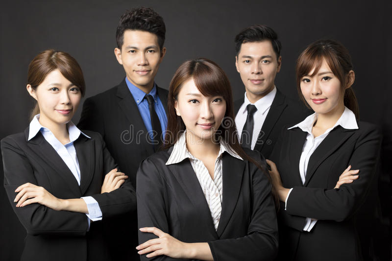 businesswoman with successful business team royalty free stock images