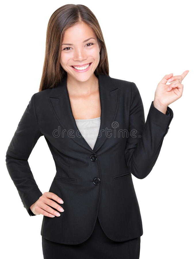 Download Businesswoman In Suit Pointing Stock Image - Image: 18881187