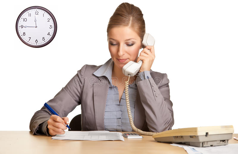 Download Businesswoman In Suit Talking On The Phone Stock Image - Image: 17867147