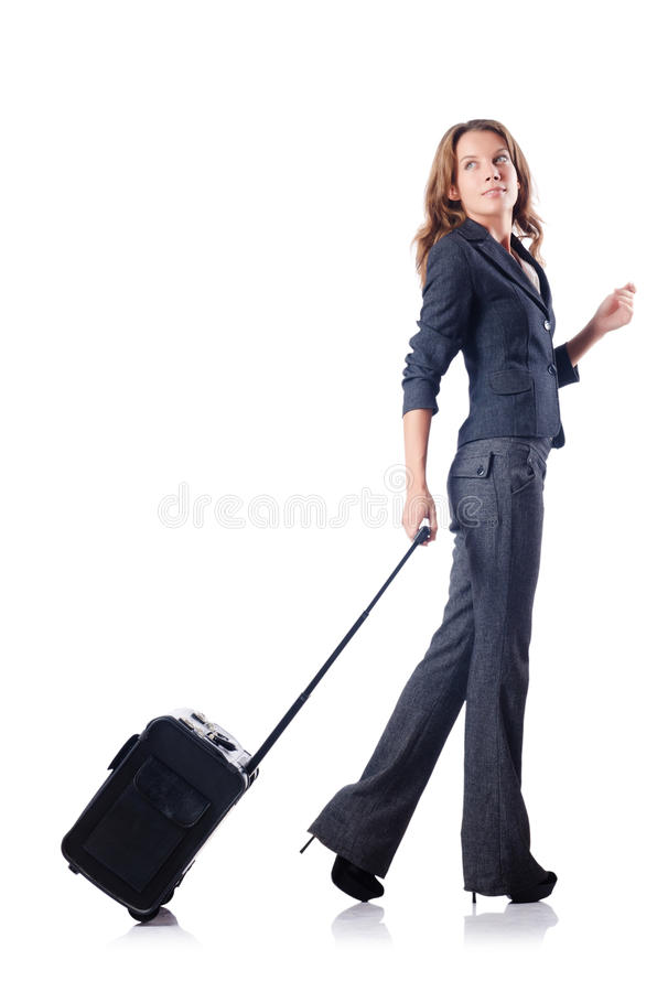 Download Businesswoman With Suitcase Stock Image - Image: 26480333