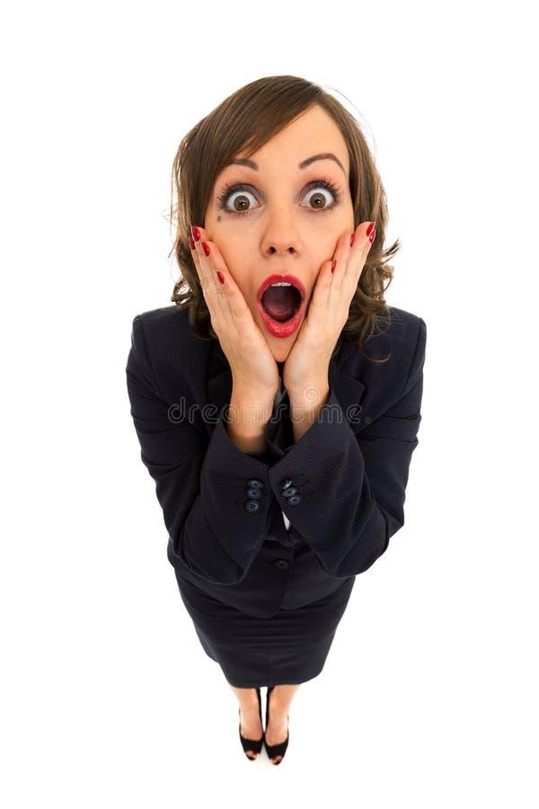 businesswoman szokujące obraz stock