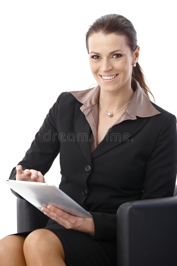 Businesswoman With Tablet Computer Stock Image