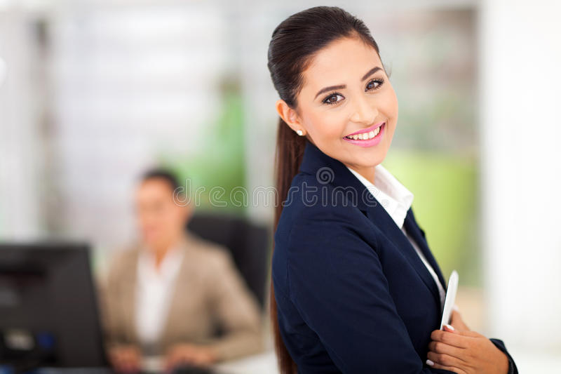 Businesswoman with tablet royalty free stock image
