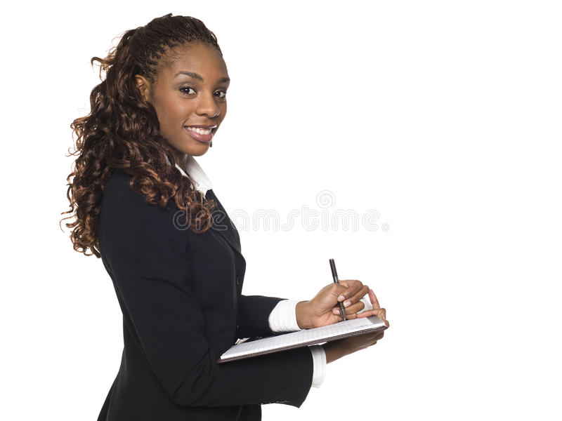 Download Businesswoman - Taking Notes Stock Photo - Image of pantsuit, dressed: 10103332