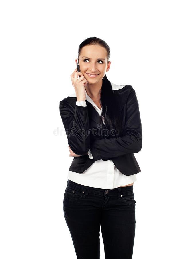 Businesswoman Talk On The Phone Stock Image