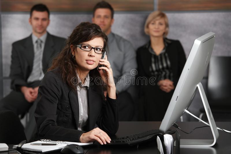 Download Businesswoman Talking On Mobile Stock Image - Image: 13053035