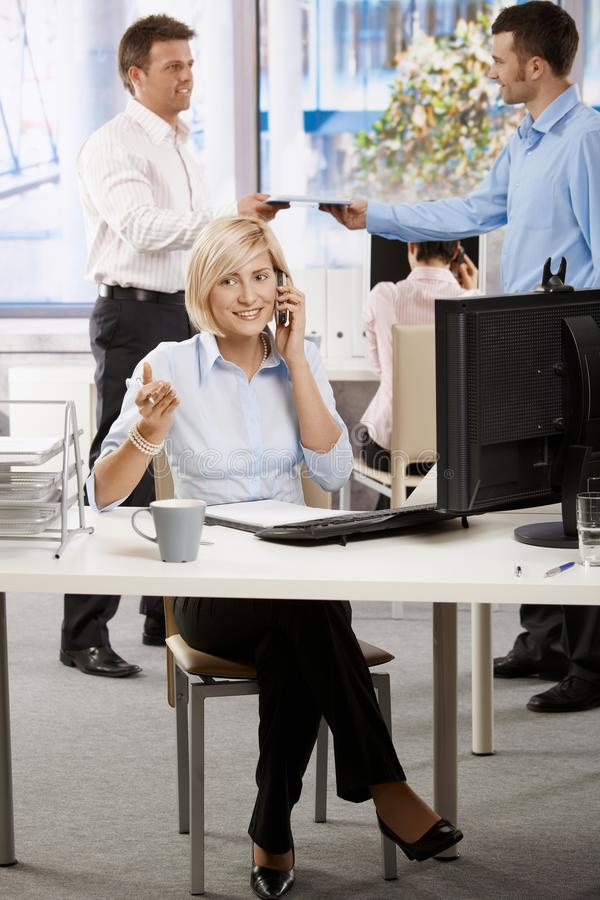 Download Businesswoman Talking On Mobile Stock Image - Image: 25641923