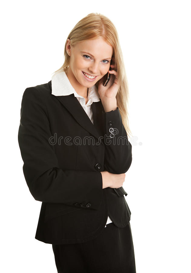 Download Businesswoman Talking On Mobile Phone Royalty Free Stock Image - Image: 18204946