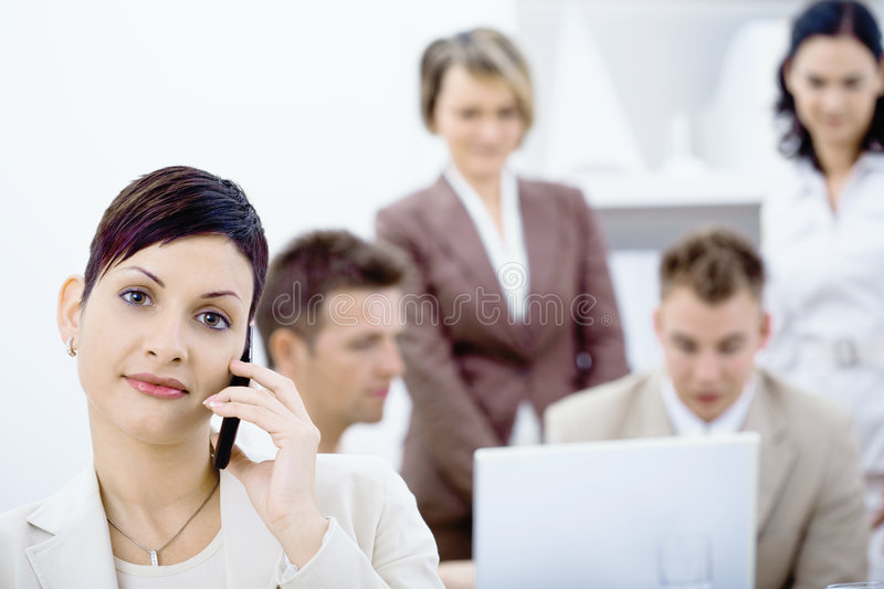 Download Businesswoman Talking On Mobile Phone Stock Photo - Image: 8929818