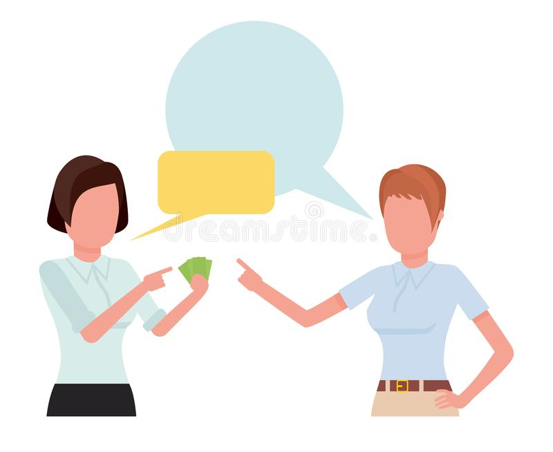 Businesswoman talking with partner, team of professional employees discussing ideas. Cartoon flat vector illustration. Businesswoman talking with partner, team stock illustration
