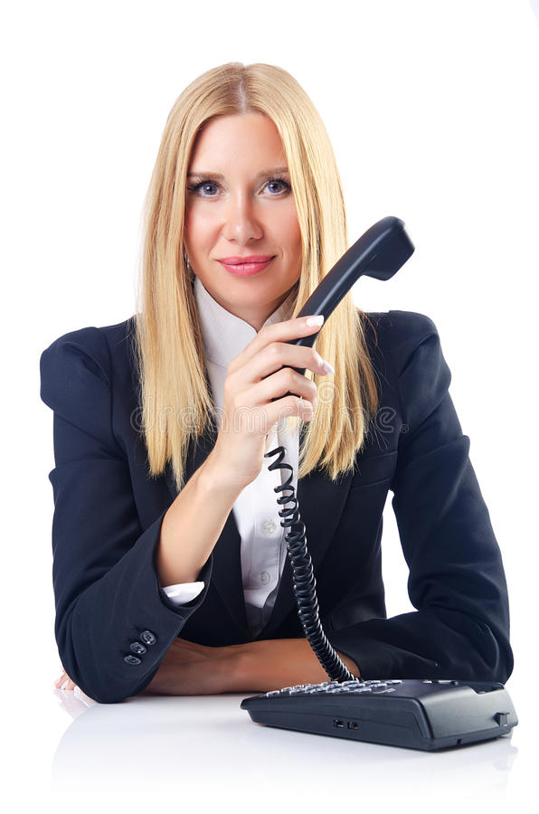 Download Businesswoman Talking On Phone Royalty Free Stock Photos - Image: 26480458