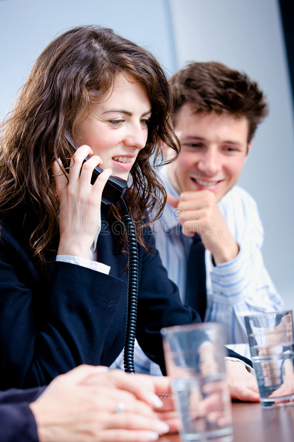 Download Businesswoman Talking On Phone Stock Photo - Image: 7909080