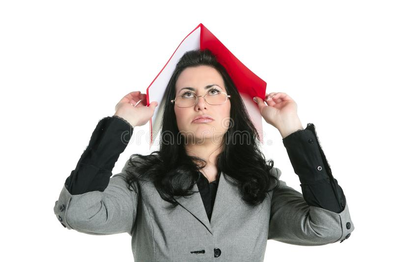 Download Businesswoman Teacher Woman Busy Upset Stock Image - Image: 12750135