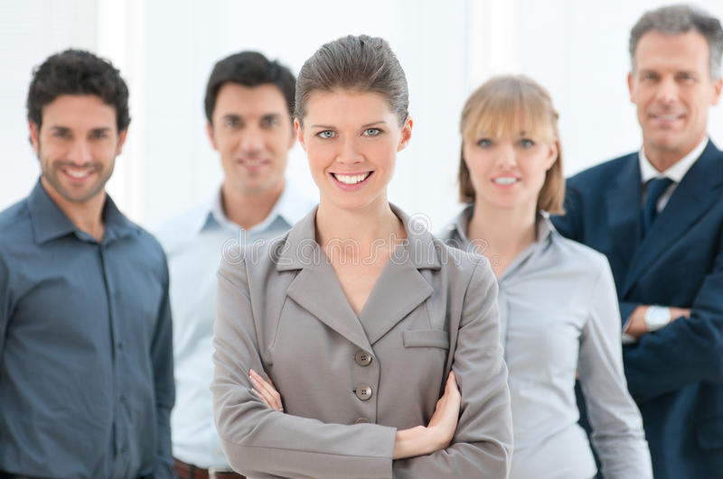 Download Businesswoman and team stock photo. Image of professional - 23610778