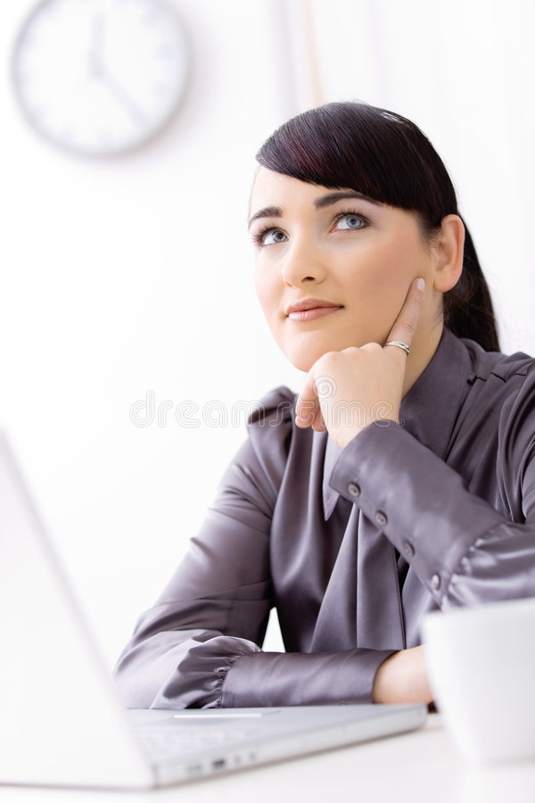 Download Businesswoman thinking stock photo. Image of face, caucasian - 8422276