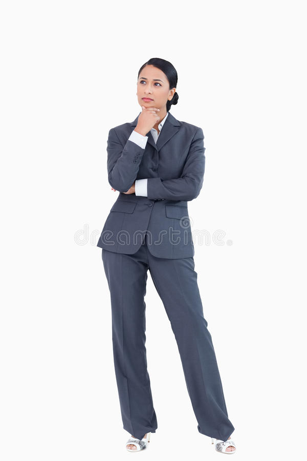 Download Businesswoman In Thoughts Royalty Free Stock Photography - Image: 22858697