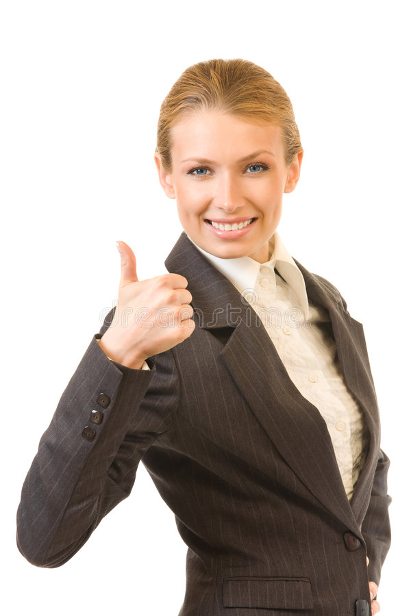 Download Businesswoman With Thumb Up Stock Photo - Image: 7298412
