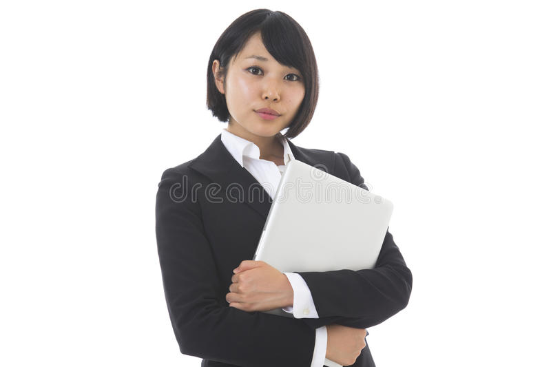 Businesswoman to see a computer stock images