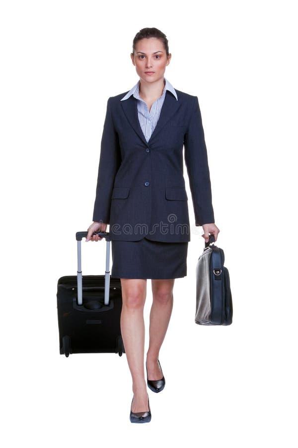 Businesswoman traveller stock image