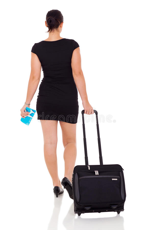 Download Businesswoman Travelling By Air Stock Photo - Image of cutout, black: 31314774