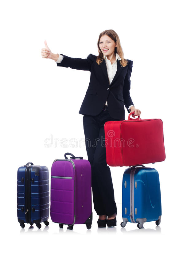 Download Businesswoman travelling stock image. Image of isolated - 34469321