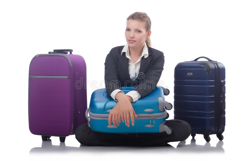 Download Businesswoman travelling stock photo. Image of bags, arrival - 34665176