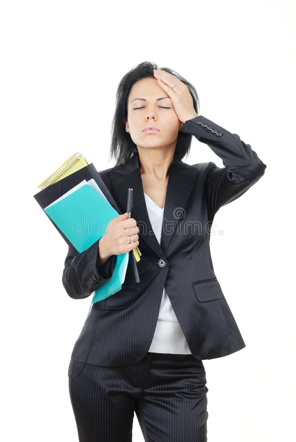Businesswoman in trouble stock images