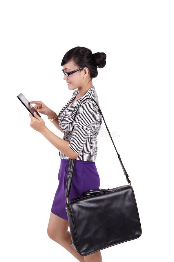 Download Businesswoman using iPad stock photo. Image of digital - 24284996