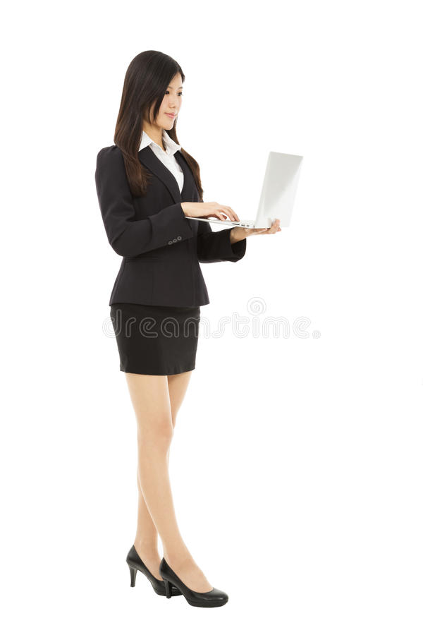 Download Businesswoman using laptop stock photo. Image of asian - 31755170