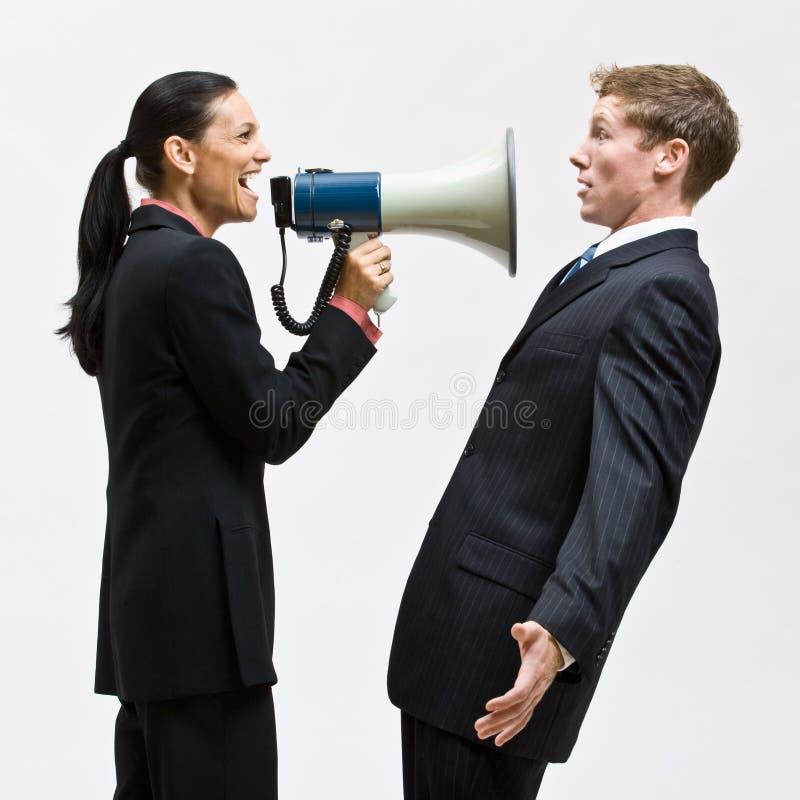 Download Businesswoman Using Megaphone Stock Image - Image: 17057553
