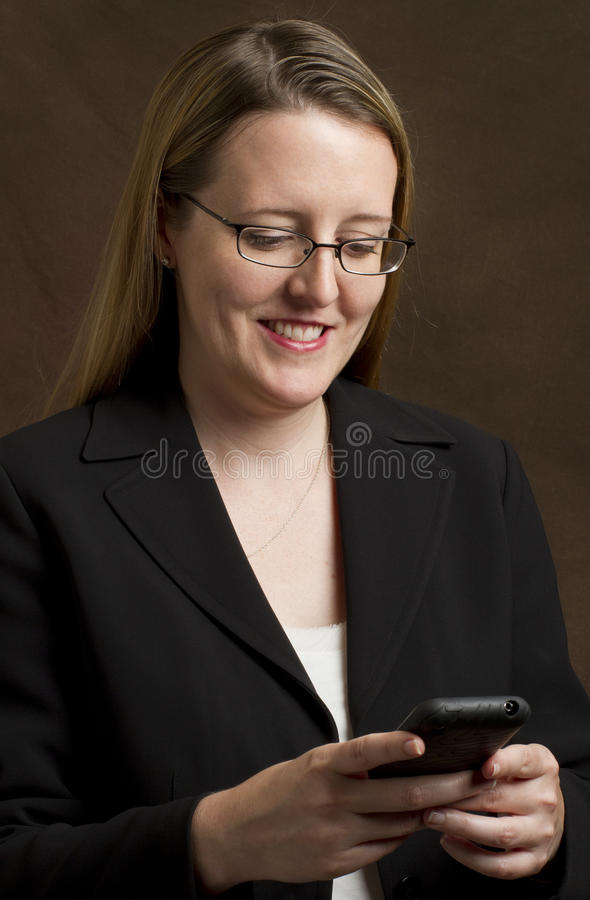 Download Businesswoman Using A Smartphone Stock Photo - Image of person, vertical: 15766274